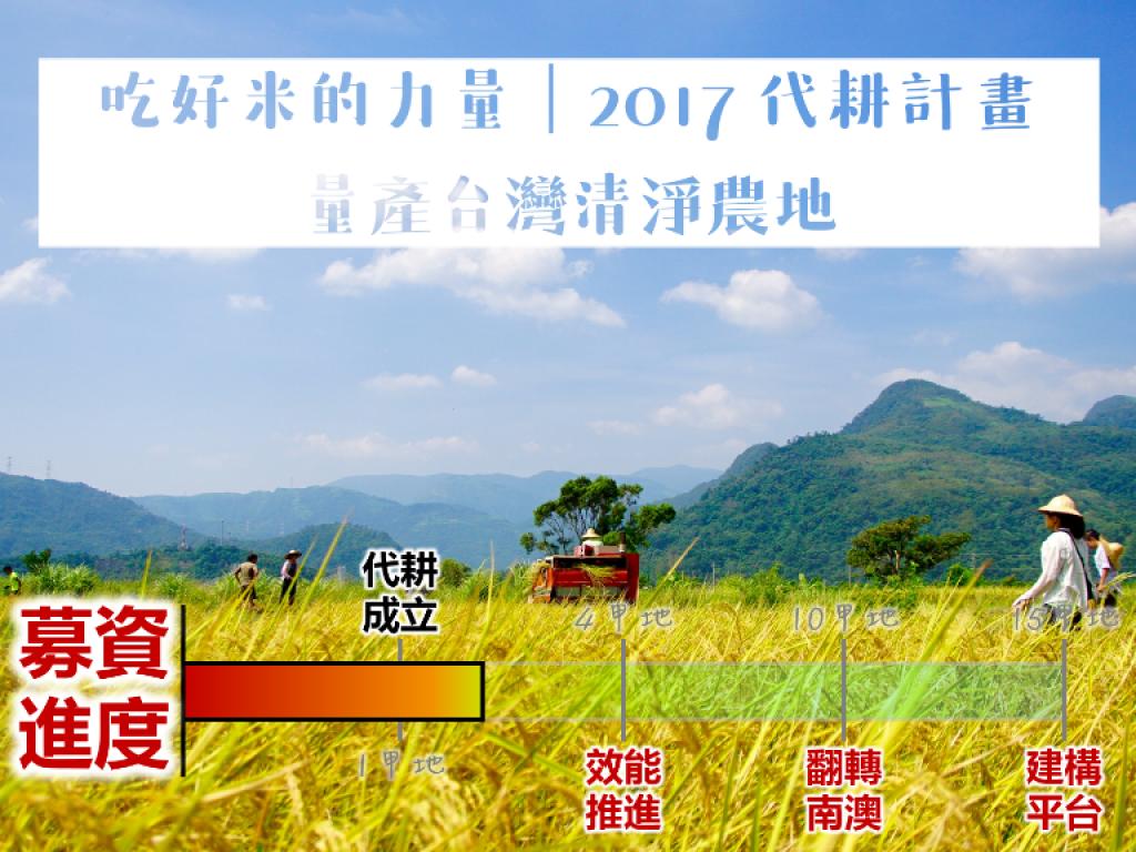 吃好米的力量|2017 代耕計畫 量產台灣清淨農地