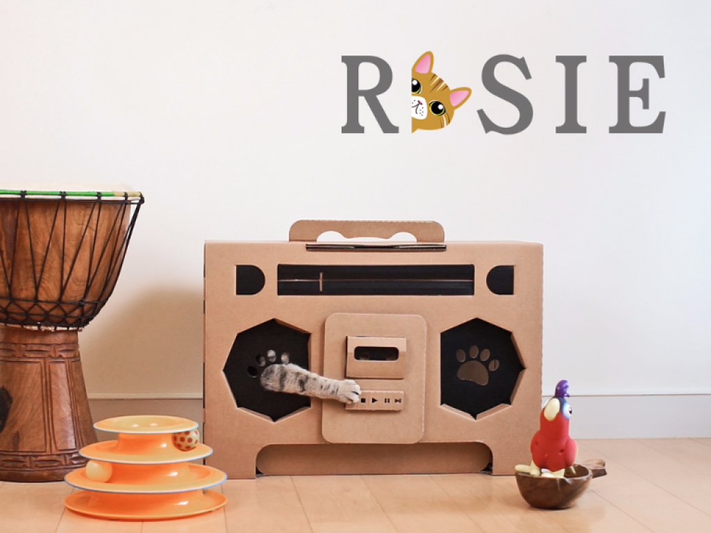 Rosie House 喵星人住家計畫-瓦楞紙貓屋