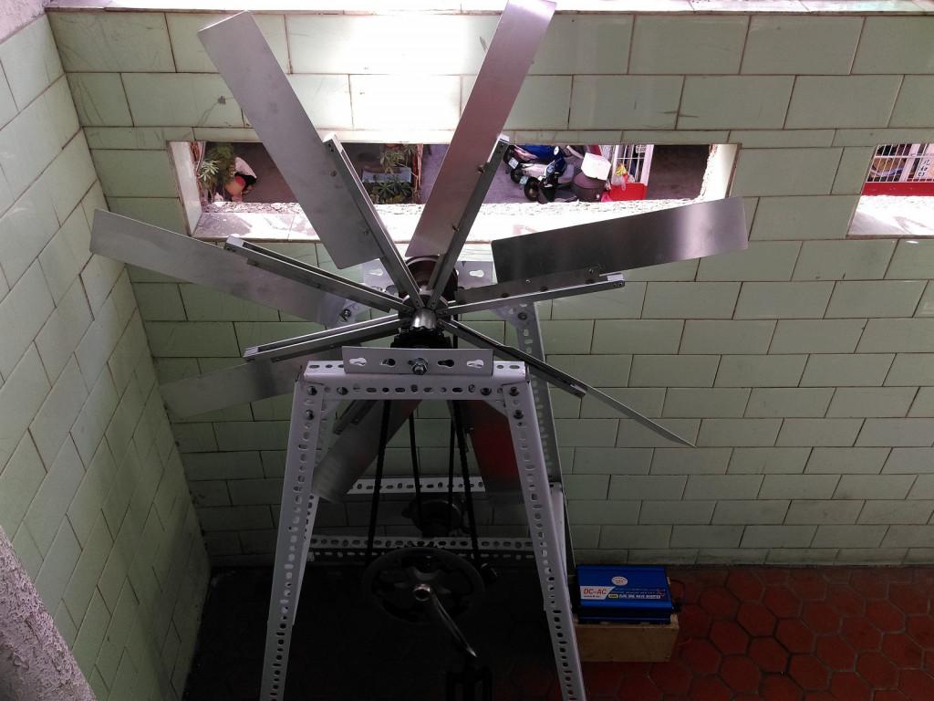 具健身功能的風力發電機