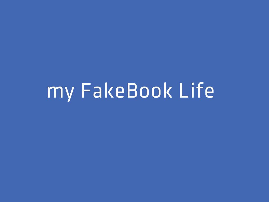 《臉輸人生 My Fakebook Life》短片集資計畫
