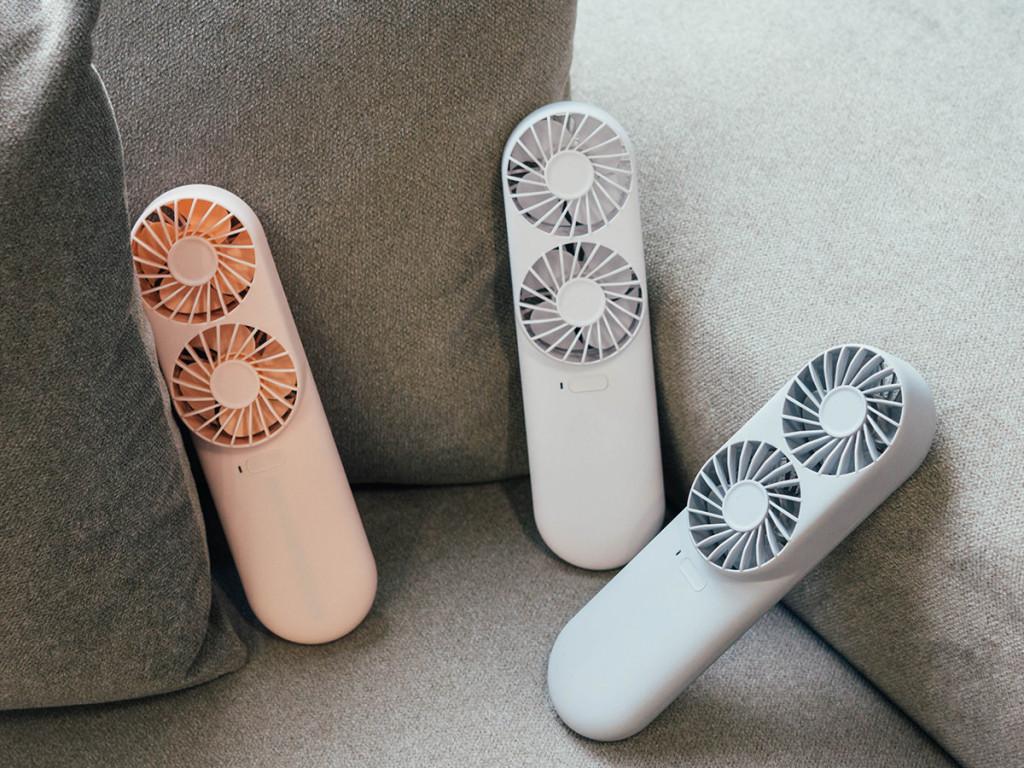 Twin Fan| 韓國首發雙頭手持電扇 |輕巧時尚風量大