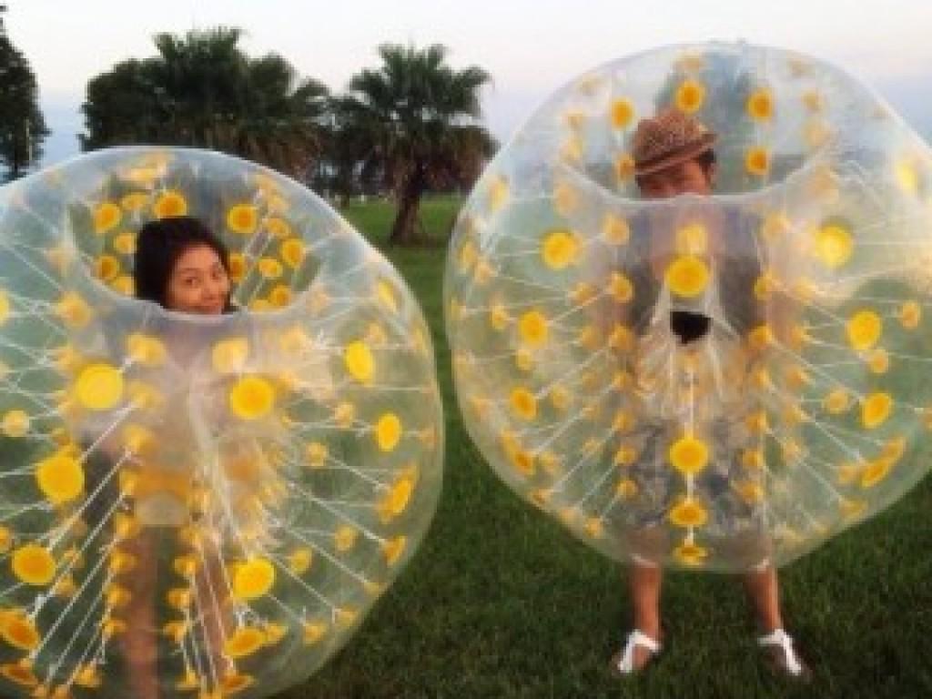 全新開孔-彩色泡泡足球