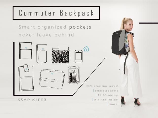 KKRS 超級通勤背包 | 智能管理收納 出門東西不遺忘